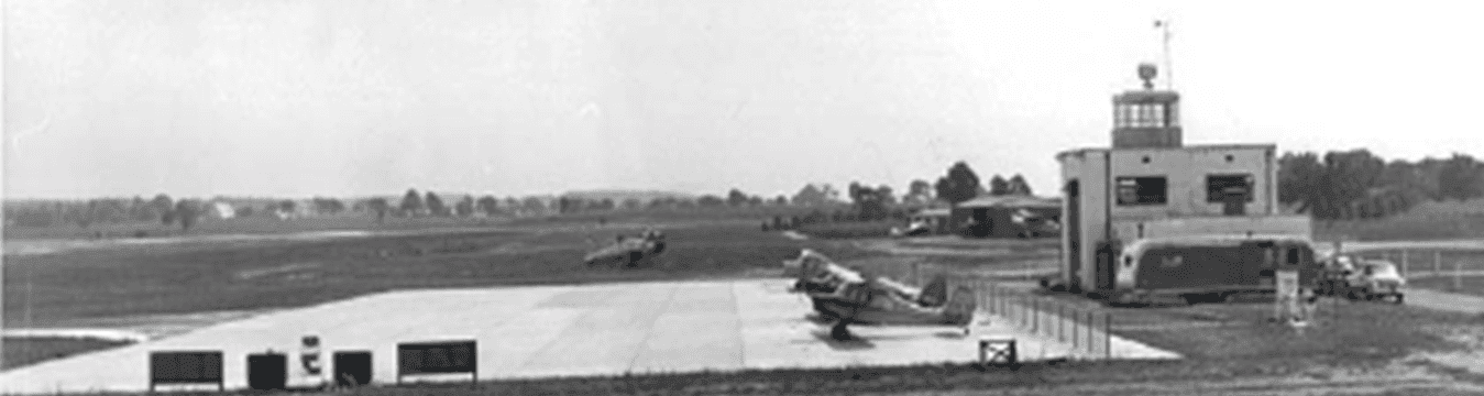Black and White Image of the Airport